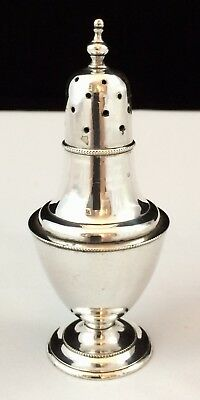Vintage Silver Plate Pepper Pot with Screw Top