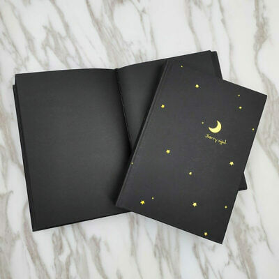 Black Paper Journal with Black Cardboard Hardcover Notebook Black Pages Sketch