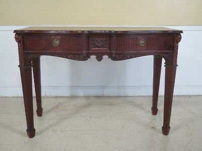F43806: Antique Mahogany English Huntboard with Rams Heads