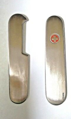 New Swiss Army Pocket Knife Replacement Scales Stainless Steel Victorinox 91Mm