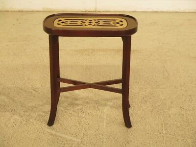 F44657EC: MADISON SQUARE Mahogany Kettle Stand with Brass Trivet