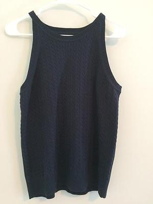 7b23e4c358c691 Tommy Hilfiger women's navy blue knitted tank top sleeveless shirt size XL  nice