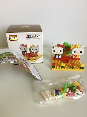 4 Styles KItty Series LOZ Diamond Blocks iBLOCK FUN Mini Assembly Toys With Box