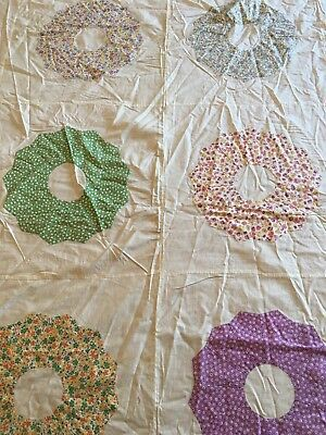 quilt top, pretty and colors easy to work with, hand sewn