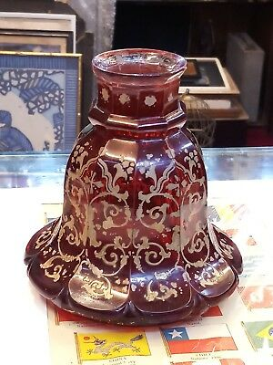 VERY RARE ANTIQUE ISLAMIC BOHEMIAN GLASS HOOKAH c.1900's