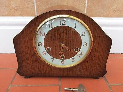 Smiths 8 Day Westminster chiming mantel clock. K6A 1957 Coniston