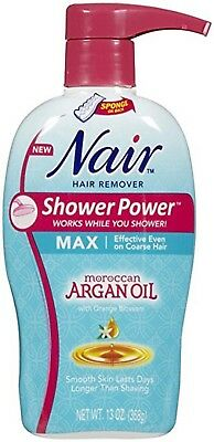 Nair Shower Power Max with Moroccan Argan Oil, 13oz 022600588566WS