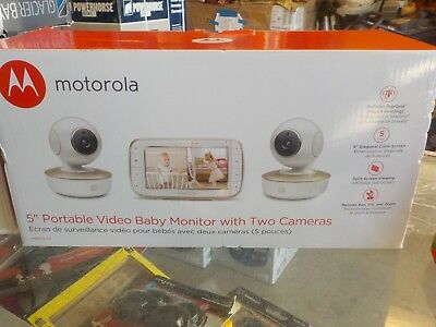 "Motorola Two Camera portable 5"" Video Baby Monitor MBP50-G2 NEW"