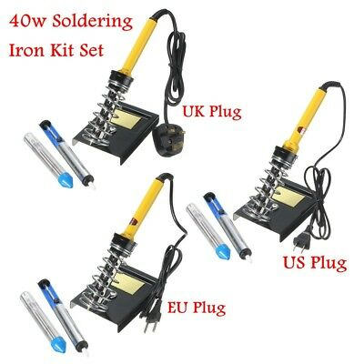 6 in 1 220V 40W Electric Soldering Iron with Desolder Pump Stand Kit Set
