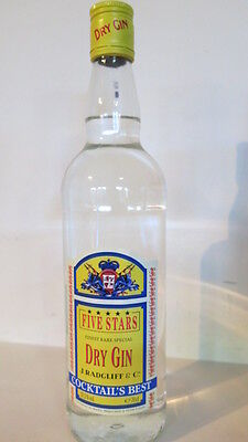 FIVE Stars Finest Rare Special Dry Gin Cocktail's Best 700ml  Product of FRANCE