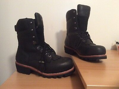 9db6074dbf7 NEW -WOLVERINE MEN'S Buckeye EAA Safety-Toe Leather Work Boots Size 11M