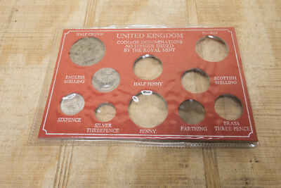 Vintage United Kingdom Out of Production Coinage Denominations