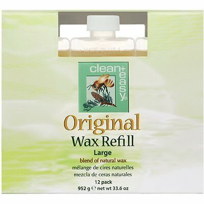 Clean & Easy Wax Large (leg) Original Wax, 2.8 oz Pack of 12 Blend of Nature Wax