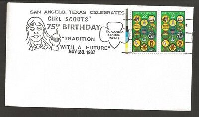 1987 US Girl Scouts San Angelo Tex 75th anniversary cancel