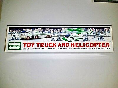 Nib Hess Toy Truck And Helicopter 2006 Mint