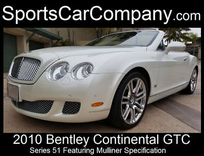 Bentley Continental GTC Continental GTC Series 51 2010 BENTLEY GTC SERIES 51 JUST 7k MILES LOADED LUXURIOUS SUPERB INSIDE & OUT!