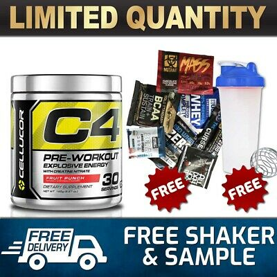 Cellucor C4 Id 30 Serves Serve Pre Workout C4 Original Energy Creatine Shaker 1