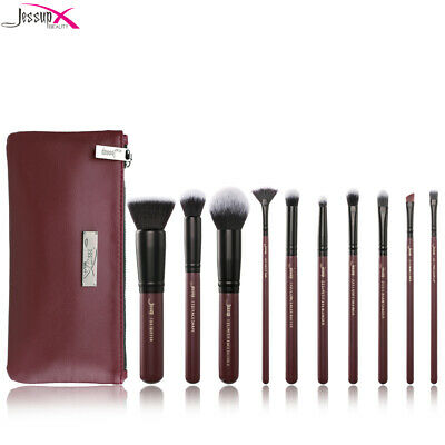 New Jessup Brushes Set Cosmetic Tools Lip Eyeshadow Concealer Cheek+Cosmetic Bag