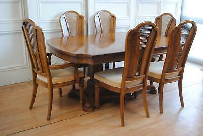 Quality Thomasville USA French Provincial Extension Dining Table & 6 Chairs $$$