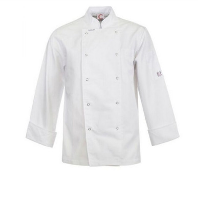 Executive Chefs Jacket With Press Studs - Long Sleeve - Size Medium