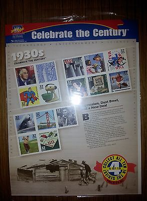 "USA Stamps 1998: ""Celebrate The Century"" 1930's: 4 of 10: MNH Sheet"