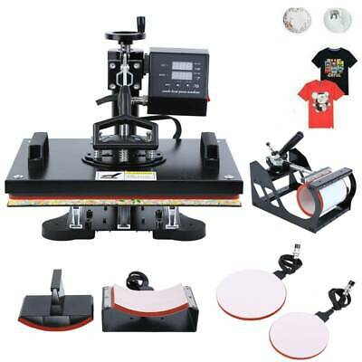 Ridgeyard 8 in 1 Heat Press Transfer T-Shirt Mug Hat Sublimation Printer Machine