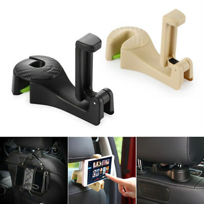2 in 1 Auto Car Back Seat Phone Holder Stand Headrest Hanger Hook Clip for Bag