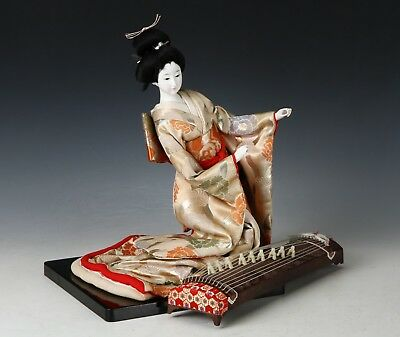 Vintage Japanese GEISHA Doll -Traditional Guitar Doll-