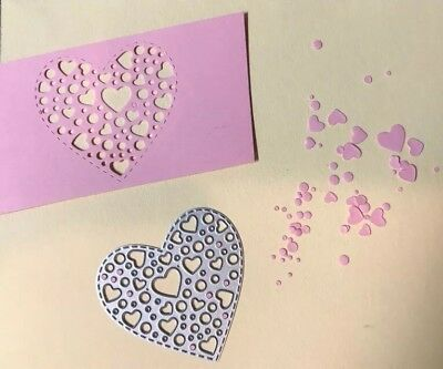Heart Shaped Craft Die Suitable For Sizzix Cuttlebug Die Cutting Machines