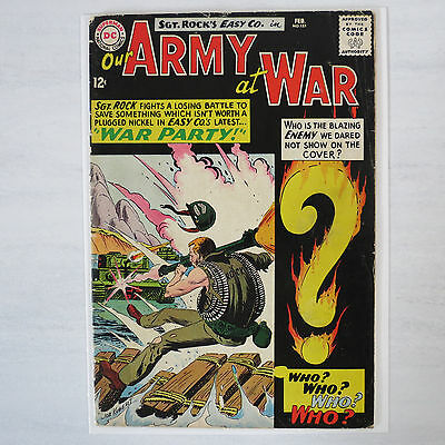 Our Army at War # 151 3.0 GD/VG Silver Age Sgt Rock low color break Flat Feb 65