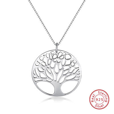 Orsa Jewels Women Genuine 925 Sterling Silver Tree of Life Pendant Necklace Gift