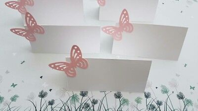 10x Place Name Cards Wedding ,Christening , Party Placecards ,Pink Butterflies