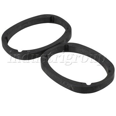 2 Sets Thick Automobile Speaker Spacer Adapter Mount 6 x 9 Inch Black