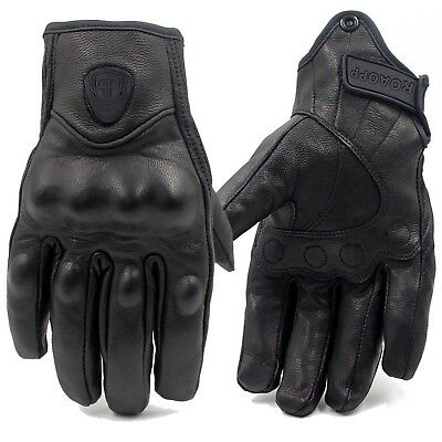 Touch Screen Motorcycle Leather Gloves Bicycle Riding Racing Protective Armor