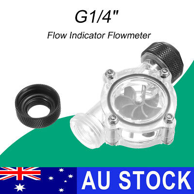 """AU G1/4"""" Thread Flow Meter Indicator SLU-P01 for Water Liquid Cooling Systems"""