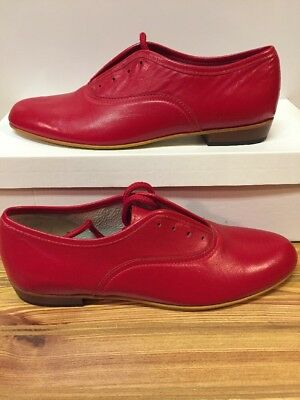 Ms. Stomper  Size 7.5 N WOMENS Clogging Tap Dance Shoes, (no Taps) Red