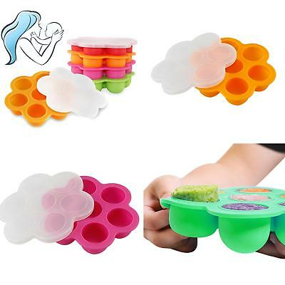 2018 New Weaning Baby Food Silicone Freezer Tray Storage Container BPA Free AU P