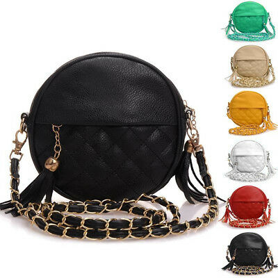 Mini Lady Fashion Shoulder Bag Tassels Handbag Leather Sling Chain Bag Crossbody
