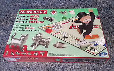 Hasbro Monopoly with new cat token brand new set still shrink wrapped
