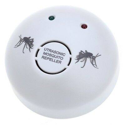 Round Electronic Ultrasonic Mosquito Repeller Pest Frequency Adjustable Cha D7P6