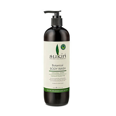 NEW Sukin Body Wash Botanical 500mL Bath Body Washes Toiletries