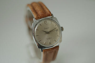 Vintage URECH Automatic 25 Jewels Swiss Made Herrenuhr mit neuen Lederarmband