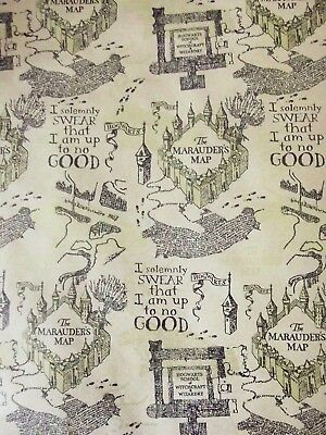 X/LARGE 1M SHEET harry potter wrapping paper-hogwarts map -birthday ...