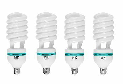4X 150W 5500K 220V Video Daylight Light Bulb Energy Saving Bulb E27 CFL Lamp