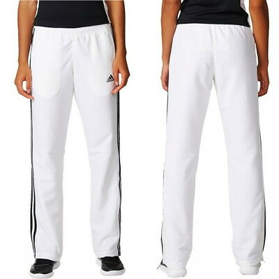 ffc55b82 adidas Team T16 Women's White Tracksuit Trousers Running Gym Sports Track  Pants