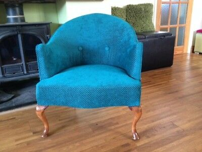Antique french tub chair, newly refurbished, courier possible**