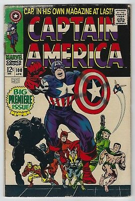 Captain America #100 (1968, Marvel) Premiere Issue, Stan Lee, Jack Kirby, G/VG-