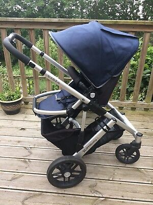 Uppababy Vista 2014 Pram And Pushchair In Navy With Footmuff