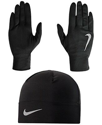 NIKE RUNNING DRY FIT GLOVES and BEANIE COMBO UNISEX ONE SIZE