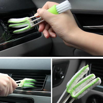 Double Head Mini Clean Car Indoor A/C Brush Tool Car Care Detailing For all car